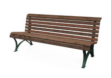 Wooden Park Bench Isolated Royalty Free Stock Images