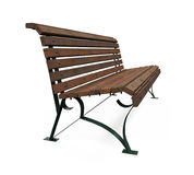 Wooden Park Bench Isolated Royalty Free Stock Photos