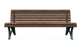 Wooden Park Bench. On white background. 3D render Stock Photo