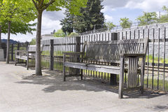 Wooden Park Benches Stock Photography