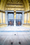 Wooden parliament in london old church door and marble antique Stock Image
