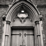 Wooden parliament in london old church door and marble antique Royalty Free Stock Photos
