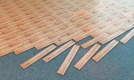 Wooden parquet Stock Images