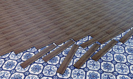 Wooden parquet Royalty Free Stock Image