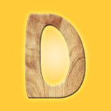 Wooden parquet alphabet letter symbol - D. Isolated on white background Royalty Free Stock Image