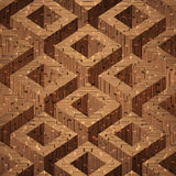 Wooden parquet boxes stacked Stock Photos
