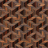 Wooden parquet Decoration - seamless background - Ebony wood. Texture Stock Images