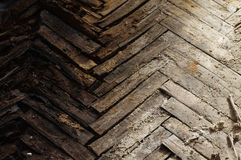 Wooden parquet floor rot Royalty Free Stock Photos