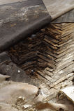 Wooden parquet floor rot 2 Royalty Free Stock Photo