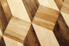 Wooden parquet flooring design, old style Royalty Free Stock Photography