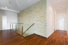 Wooden parquet in a hall Stock Images