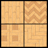Wooden Parquet, Hardwood Flooring Vector Pattern Royalty Free Stock Photography