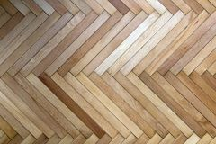 Wooden parquets seen from top in a fishback pattern. royalty free stock image