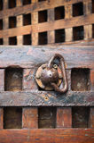 Wooden parts of the ancient sailing ship deck Stock Photography