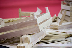 Wooden parts of crates Stock Photography