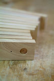 Wooden parts for furniture production Royalty Free Stock Photos
