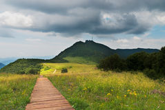 Wooden path. A wooden path in Baihua mountain in Beijing Stock Image
