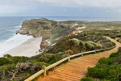 Wooden path with beautiful sea view Royalty Free Stock Photography