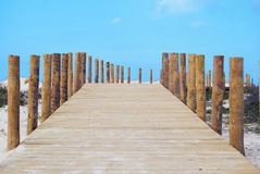 Bridge path to the sea Stock Image