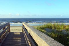Wooden Path Leading To The Ocean Stock Photography