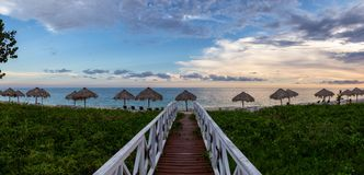 Free Wooden Path Leading To The Sandy Beach On The Caribbean Sea In Cuba Stock Image - 168662981