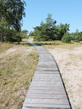Wooden path, Lithuania Stock Photos