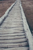 Wooden path in natural national park Stock Photo