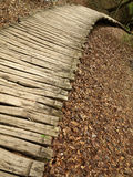 Wooden path in Plitvice National Park Royalty Free Stock Images