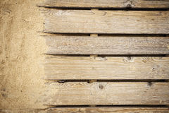 Wooden path texture Royalty Free Stock Images
