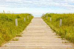 Wooden path to Baltic Sea beach at Binz, Ruegen Royalty Free Stock Photo