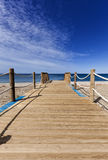 Wooden path to the beach, Almeria, Spain Royalty Free Stock Images