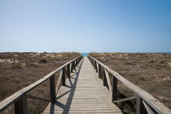 Free Wooden Path To Ocean Horizontal Royalty Free Stock Photos - 78035458