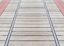 Wooden pathway background Stock Image