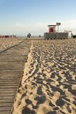 Wooden pathway at a beach Royalty Free Stock Photography