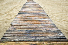 Wooden pathway on the beach Royalty Free Stock Photos