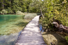 Wooden pathway - Plitvice lakes, Croatia, Europe Royalty Free Stock Photography