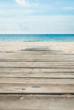 Wooden pathway to a beach Royalty Free Stock Photos