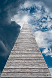 Wooden pathway to the sky. Concept idea for success Stock Photo