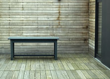 Wooden patio Stock Photography