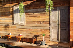 Wooden patio Royalty Free Stock Images