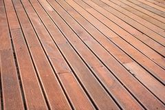 Wooden Patio Floor Outdoor Decoration Closeup Detail Hardware In royalty free stock photography