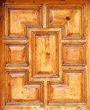 Wooden pattern 0017. A wooden pattern usually carved on  doors of main entrances Royalty Free Stock Images
