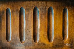 Wooden pattern. Detail of an antique inlaid wooden furniture Stock Photo