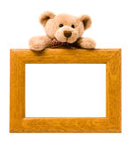 Wooden pattern frame Stock Images