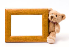 Wooden pattern frame Stock Photo