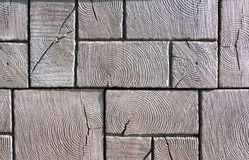 Wooden pavement. Texture pattern with cracks stock images
