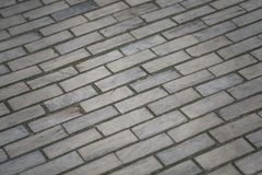 Wooden pavement. Wooden road, old road, old wooden bricks on the paving stock photos