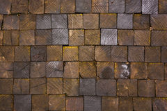 Wooden pavement texture Stock Images