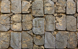 Wooden pavement texture Royalty Free Stock Image