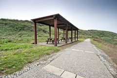Wooden pavilion Royalty Free Stock Image
